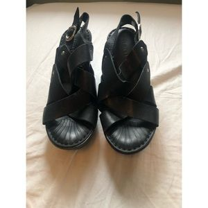 Born Black Sandal Heel